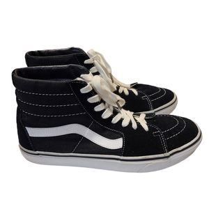 Vans Sk8-Hi Canvas Black & White Shoes